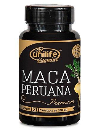 Maca Peruana Premium Pura Unilife 120 Cápsulas