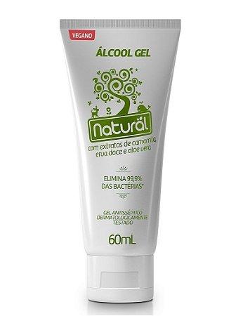 Álcool Gel Antisséptico 70% Orgânico Natural 60ml