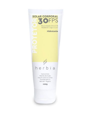 Protetor Solar Natural Vegano Herbia Corporal Fps 30