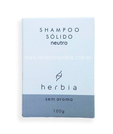 Shampoo Sólido Vegano Natural Neutro Herbia 100g