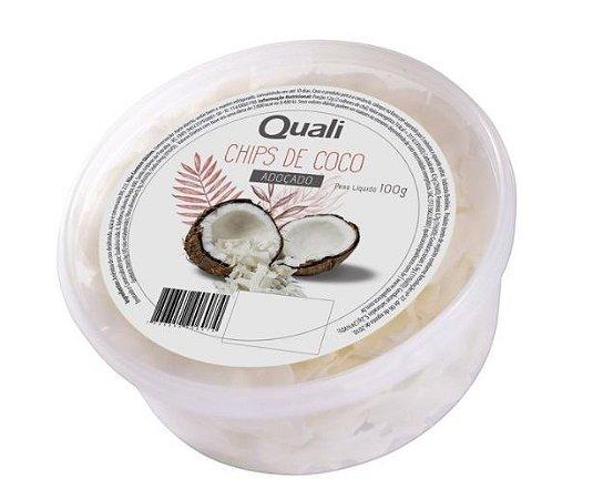 Chips de coco 100g Quali Adoçado.