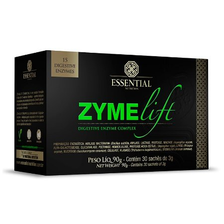 Zyme Lift Enzimas Digestivas Essential Nutrition 30 Sachês
