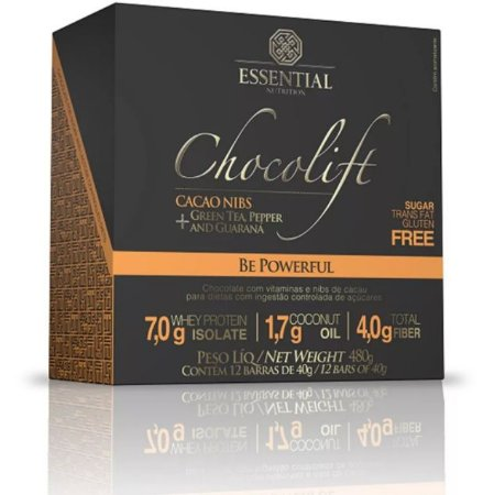 Chocolift Cacao Nibs Essential Nutrition Box 12 Unidades