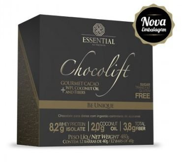 Chocolift Be Unique Essential Nutrition Box 12 Unidades