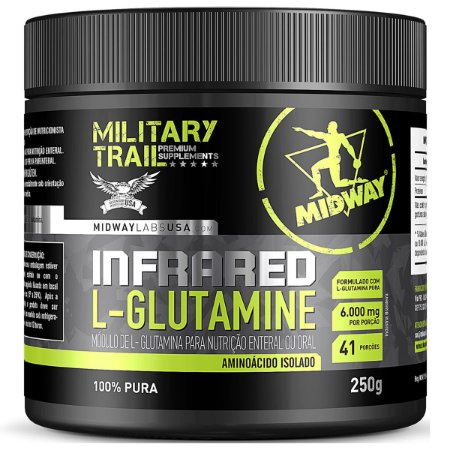 Infrared L-Glutamina Midway 250g Military Trail
