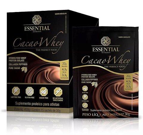 Cacao Whey Protein Essential Nutrition Sachê 15 x 30g