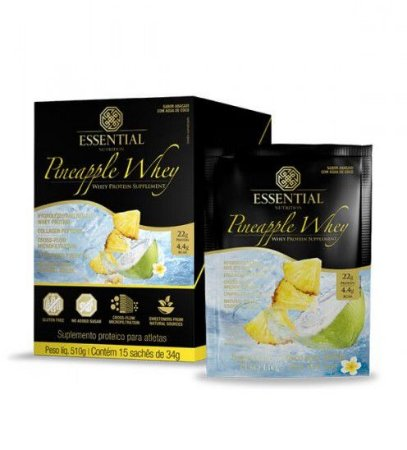 Pineapple Whey Protein Essential Nutrition Sachê 15 x 30g