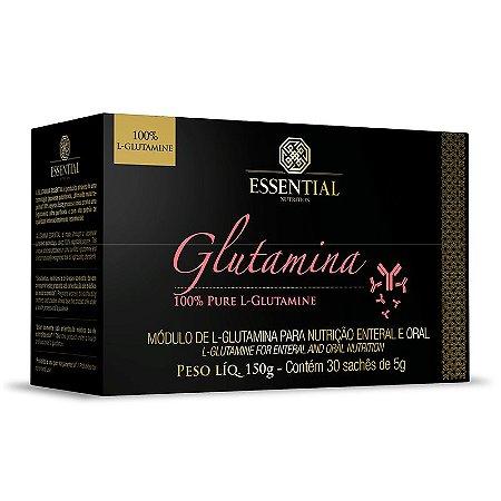 Glutamina Caixa com 30 Sachês Essential Nutrition