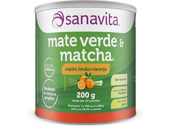 Mate Verde e Matcha Sanavita Capim Limão com Laranja 200G