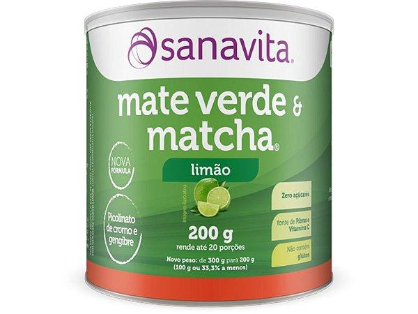 Mate Verde e Matcha Sanavita Limão 200G