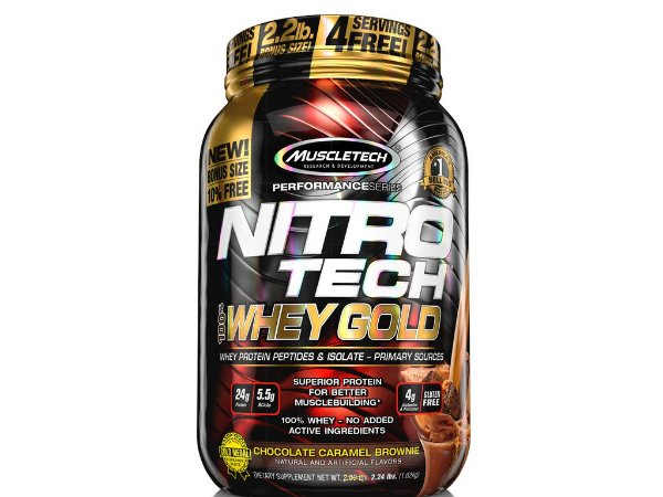 Nitro tech Whey Gold Muscletch 1,02kg Chocolate com caramelo