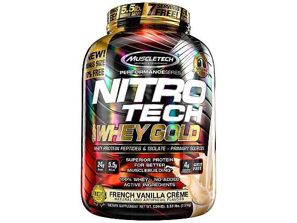 Nitro tech Whey Gold Muscletech 2,51kg French Vanilla Creme