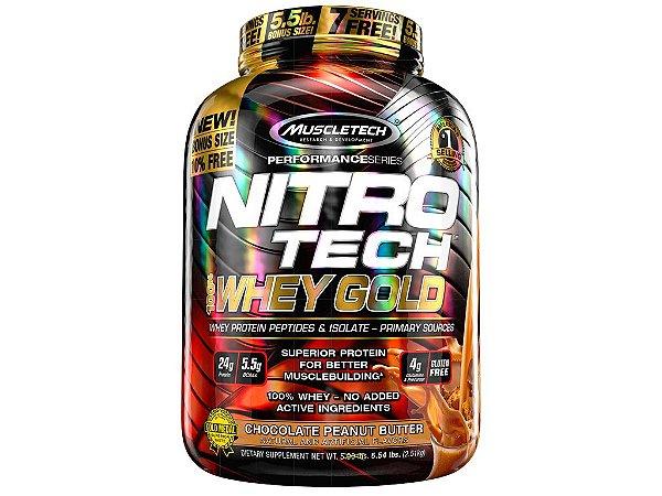 Nitro tech Whey Gold Muscletech 2,51kg Chocolate Peanut Butter
