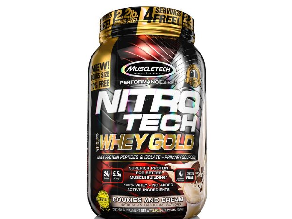 Nitro tech Whey Gold Muscletech 999g Cookies and Cream