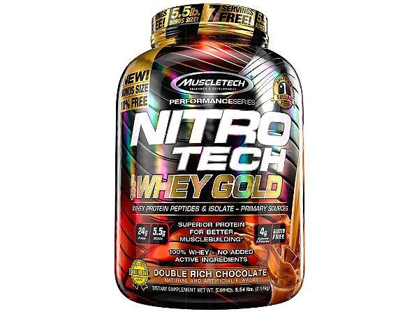 Nitro tech Whey Gold Muscletech 2,51kg Chocolate