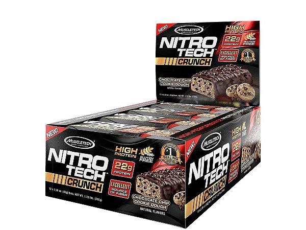Nitro tech Crunch Bar Muscletech Chocolate Chip Cookie Dough