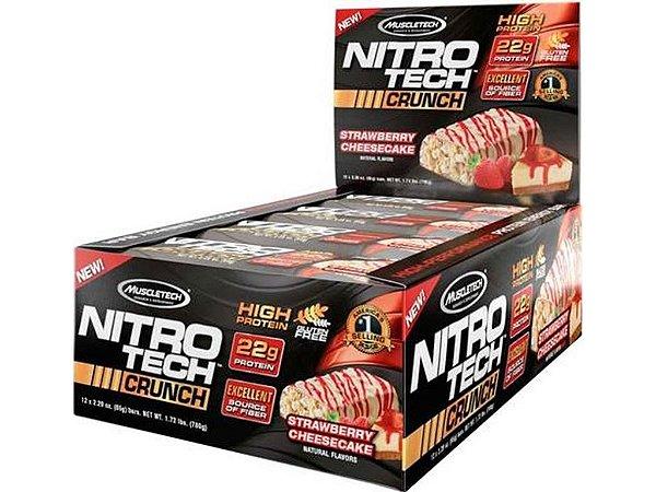Nitro tech Crunch Bar Muscletech Strawberry Cheesecake