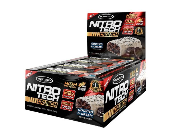 Nitro tech Crunch Bar Muscletech Cookies and Cream