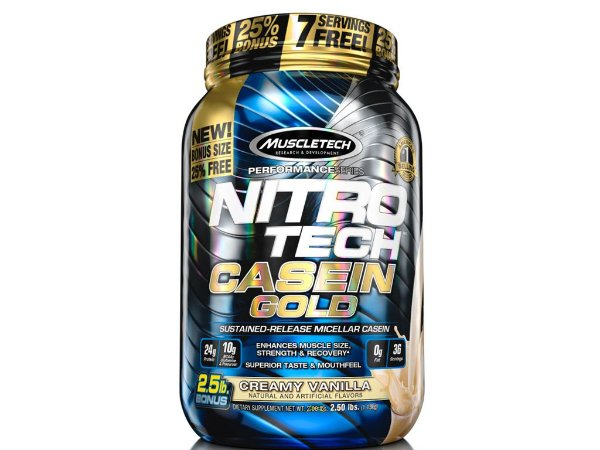 Nitro tech Caseina Gold Muscletech 1,13kg Vanilla Cream