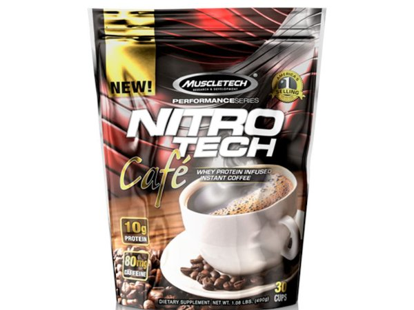 Nitro Tech Café Protéico Muscletech 491g
