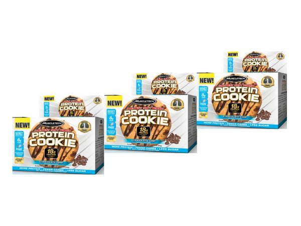 KIT 3 PROTEIN COOKIES MUSCLETECH CHOCOLATE CHIP