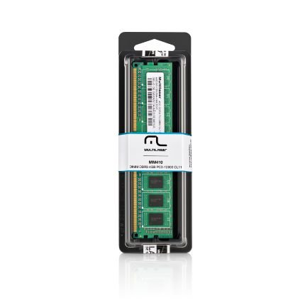 Memória (RAM) Multilaser Dimm DDR3 4GB PC3-12800 - MM410
