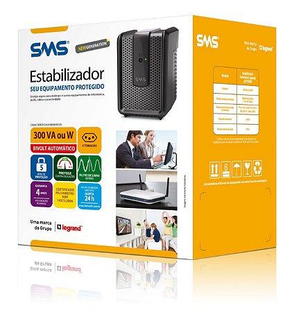 Estabilizador SMS Revolution 300BI 15970 - BIVOLT AUTOMÁTICO