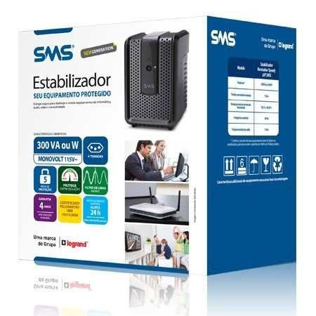 Estabilizador SMS Revolution Speedy 300S 115 - 16520 - 127v