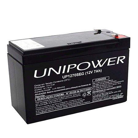 Bateria Selada 12V 7AH UNIPOWER - Para No-break e Alarmes