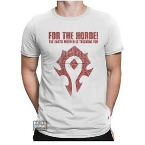 Camisa World Of Warcraft Horde RPG Games