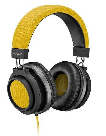 Fone de Ouvido Large Amarelo Aux. P2 Pulse PH229