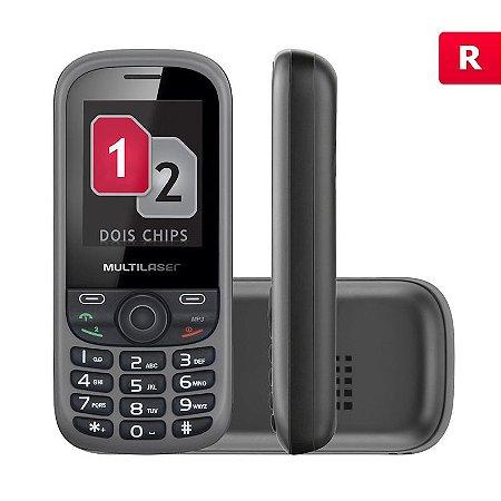 Celular Multilaser Up 2 Chips com Câmera Preto Bluetooth MP3 P3292
