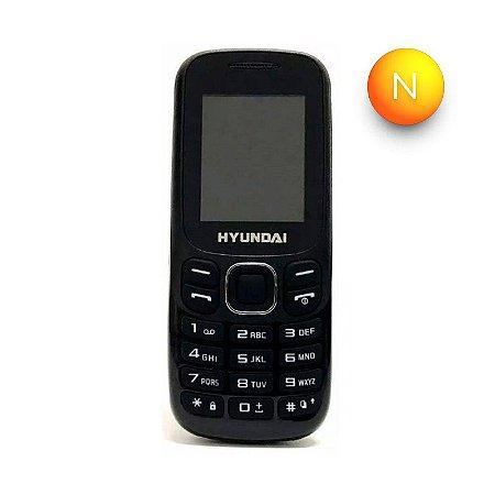 Celular com Teclado Dual Chip EK208 Hyundai Preto