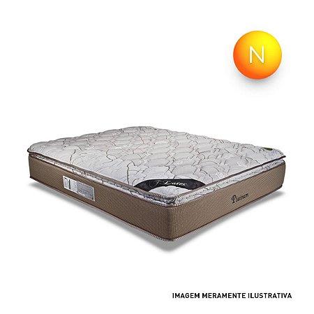 Colchão Casal Platinum Mola Ensacada Pillow Top One Side Luckspuma 33x138x188