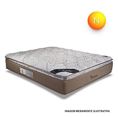 Colchão King Size Platinum Mola Ensacada Pillow Top One Side Luckspuma 193x203x33