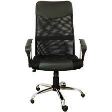 Cadeira Presidente Pel-8009 Giratória Regulagem De Altura A Gás Tela Mesh - Preta