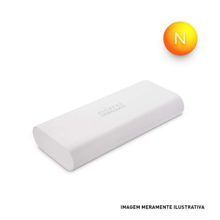 Carregador Portátil Power Bank 10400 mAH PB80 Alcatel OneTouch Branco