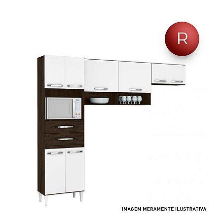 Cozinha Compacta Aramóveis Emily Sem Balcão Nicho para Forno 8 Portas 2 Gavetas