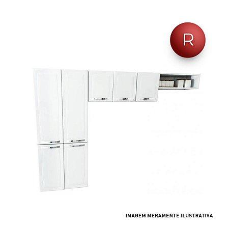 Cozinha Compacta Itatiaia Rose 7 Portas Aço