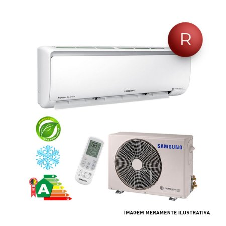 Ar Condicionado Split Hi-Wall Digital Inverter 9.000 BTUh Frio - Samsung - 220V