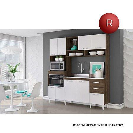 Cozinha Completa com 9 portas Camila Aramóveis Ravello Branco