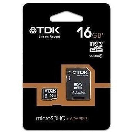Cartão De Memoria 16gb Tdk Classe 4 Micro Sd Box