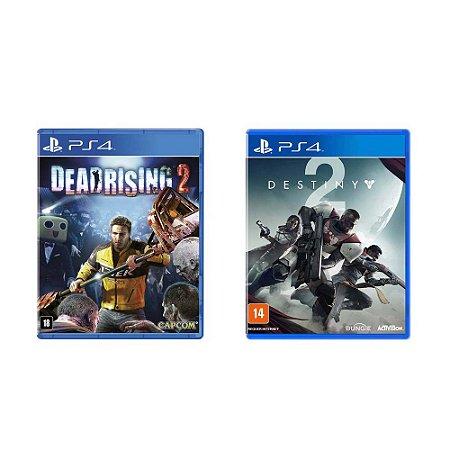 Kit Gamer - Dead Rising 2 + Destiny 2 - PS4