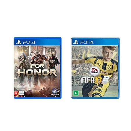 Kit Gamer - For Honor + FIFA 17 - PS4