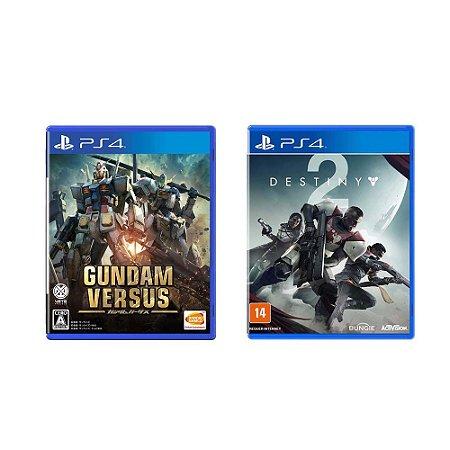 Kit Gamer - Gundam Versus + Destiny 2 - PS4