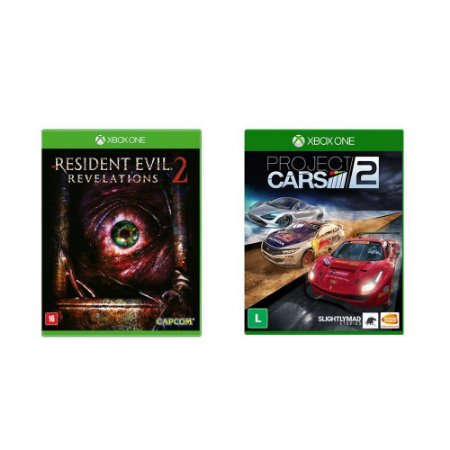 Kit Gamer - Resident Evil 2 Revelations + Project Cars 2 - Xbox One
