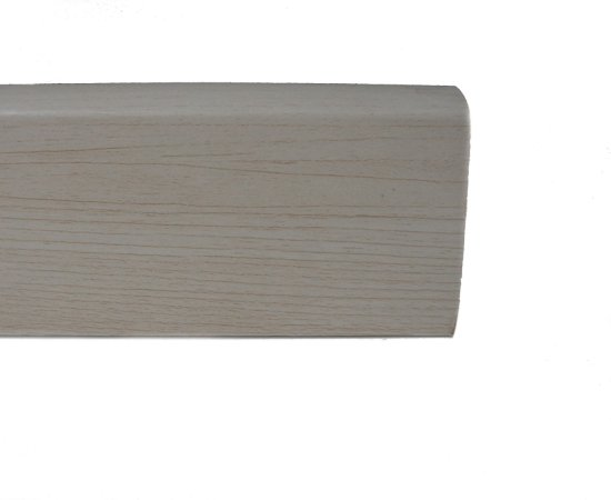 Rodapé em MDF 15mm x 5cm x 2,40m (Barra) Branco