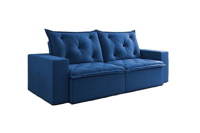 Sofá Retrátil e Reclinável M205 2 Módulos (1m) 2,5 Metros Azul 285 - Martins