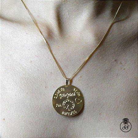 Frete Grátis. Código  C0358mp. Colar Personalizado de Mandala de Mãe  folheado a ouro 18k - Semijoia e358487fcd