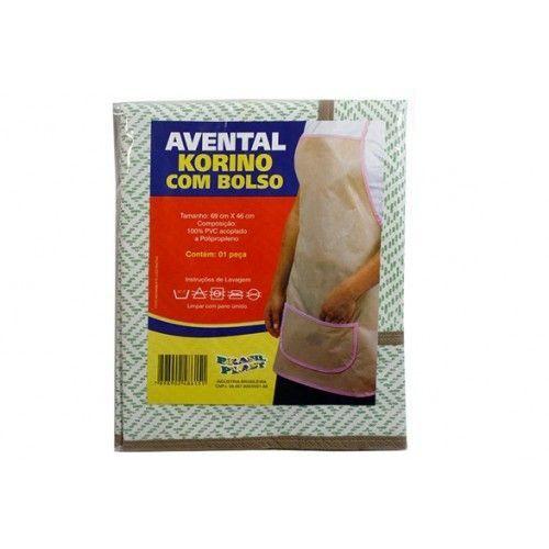 AVENTAL KORINO C/BOLSO 69X46CM BRASIL PLAST